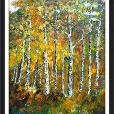 Autumn Birches near Spennithorne.(oils)