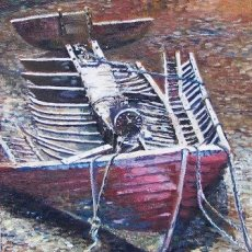 Old Boat, Tobermory (oils) SOLD