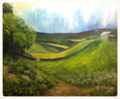 "Rash near Muker. Swaledale (oils) 24x20"") SOLD"
