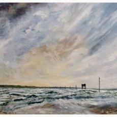 """Holy Island (oil on canvas) 22"""" x 16"""" £200"""