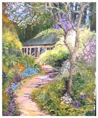 "Humphrey's Garden near Skipton (oils) £120. (16x12"" approx)"