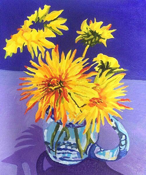 Dandelions in a Glass Jug (oils) £200