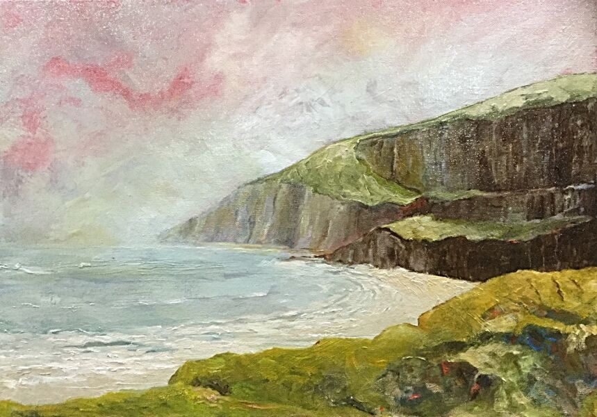 Where Yorkshire meets the Sea (oils) £150