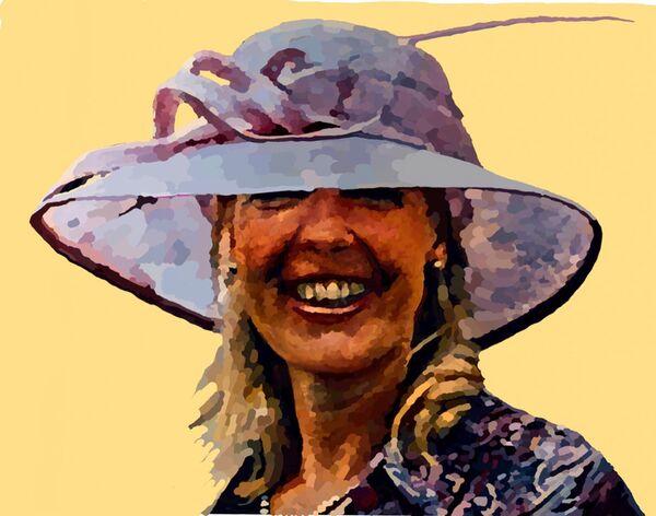 Lady in a Posh Hat (digital)