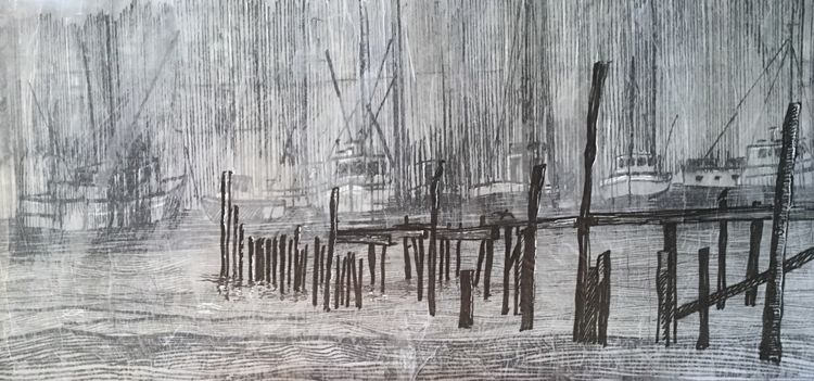 Layered Drawing - Province Town