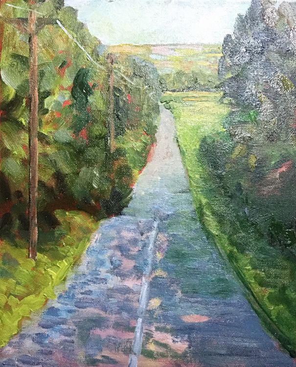 The Road to ..... (oils) 21 x 26 cms approx £60