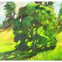 "Sleningford Pasture (oils) (8x6"")"