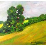 """Sleningford Pasture 2 (oil) £150(10x8"""" approx)"""