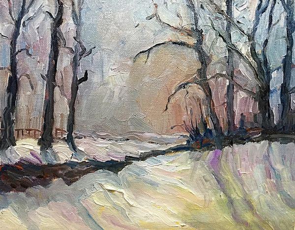 Evening Snow (oils) £150
