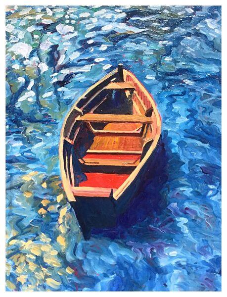 """Adrift"" (oils) 12""x16"" £180"