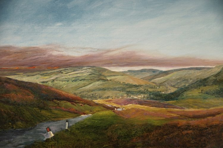 Burning Heather above Reeth. A view from Grinton Moor (oils). £150 (19.75x15.75)