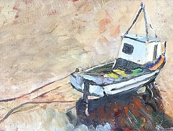 Little Boat at Mousehole (oils) £80 SOLD