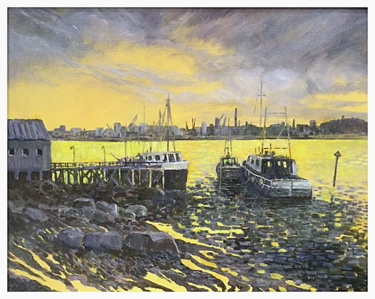 Harbour a Study in Grey (oils) £240.
