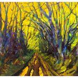 "Lane at Spennithorne (oil on canvas) 19"" x 16"" £180"
