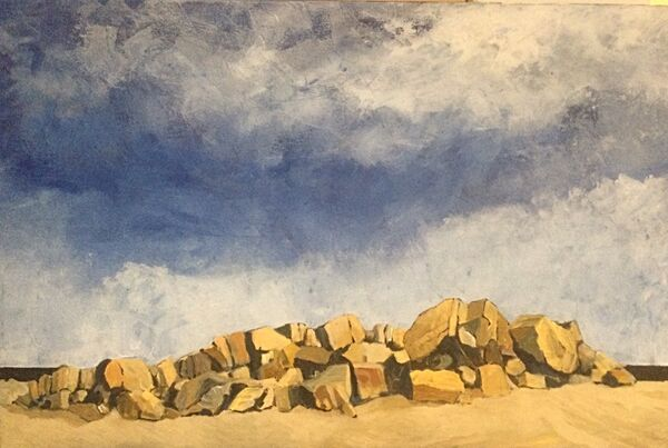 Sea Wall (acrylic on canvas) £350