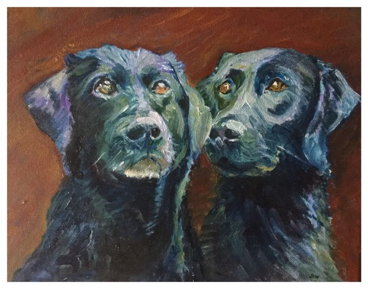 """Annie and Bella"" (oils)"