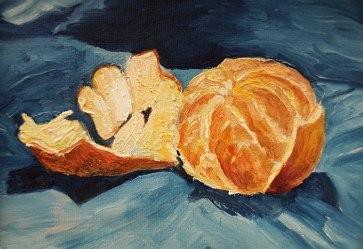 Peeled Orange (oils) £95 (26 x 21 cms approx) SOLD