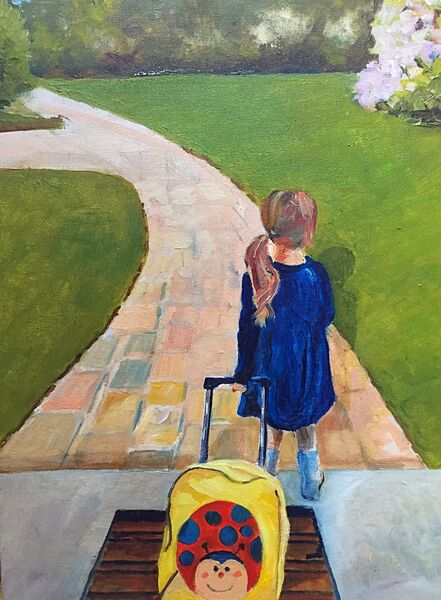 Are we Nearly There Yet? (Oils) SOLD