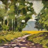 "Dappled Path (oils) £95 (10x8"")"