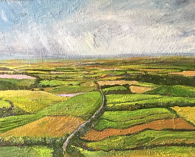 "From Sutton Bank (oils) 20"" x 16"" £180"