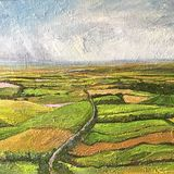 """From Sutton Bank (oils) 20"""" x 16"""" £320 Available from The Chapel Gallery, Hawes."""