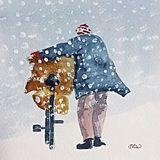 The Sea Coaler (watercolour) Printed Christmas Card 2017 £4 each inc p&p