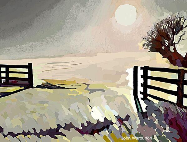 Evening Sun on the Snow at Prospect Hill (digital)