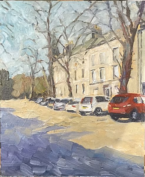 """Newbiggin, Richmond (oils)10x12"""" £220 Available from Moorlands Gallery, Bedale or contact me."""