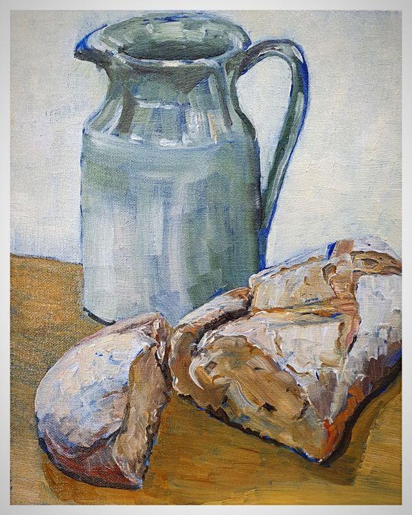Still Life (oils) 31 x 26 cms approx £80