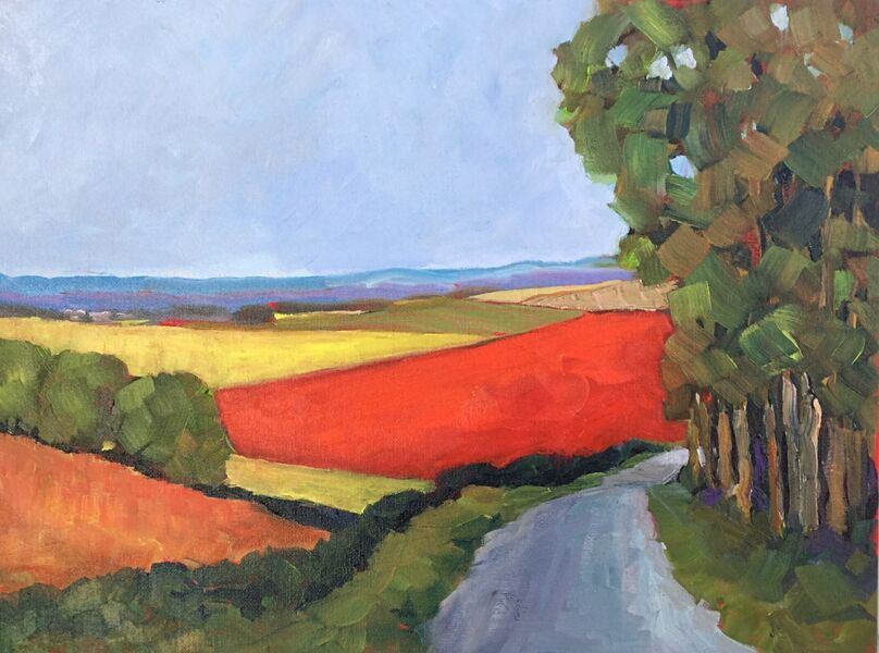 The Red Field (oils) £150