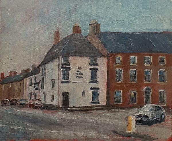 """The Black Bull, Middleham (oils) 12x10"""" £80"""