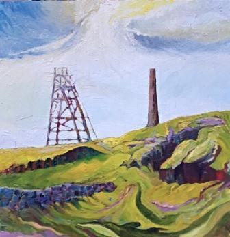 "Botallack, Cornwall (oils) 16"" x 16""   £75"