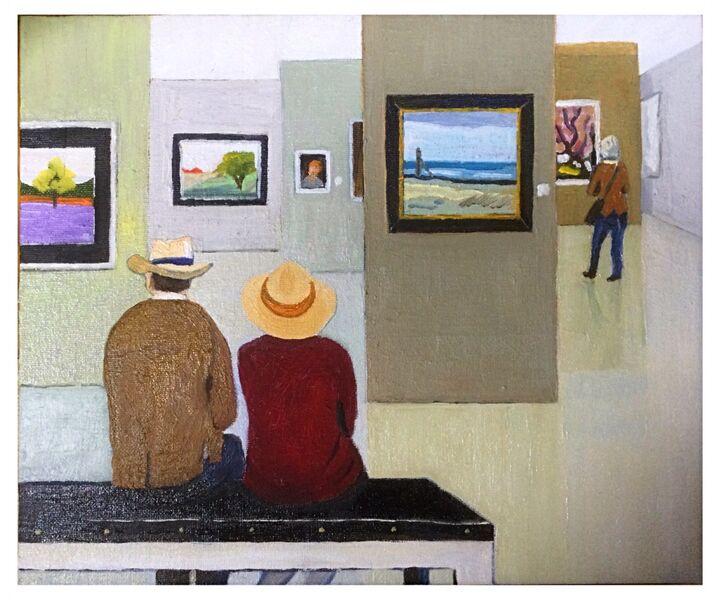 """Jean Claude's Exhibition"" (oils) £180"