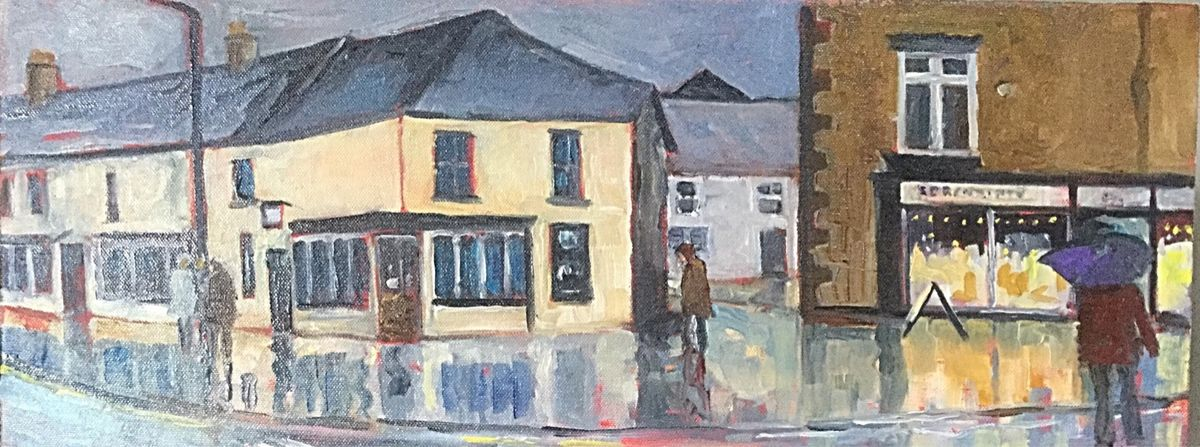 Leyburn (oils) 19.5x8 £350 Available from Moorlands Gallery, Bedale or contact me.