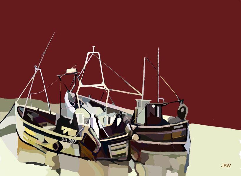 Two boats at Seaham (digital)