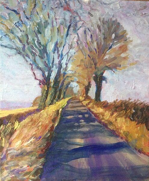 Road to Masham (oils) SOLD