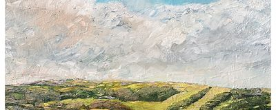View from Roomer Common, Masham (oils) 30 x 20 inches approx £250