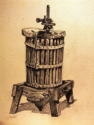 Wine Press - Perugia (pencil)