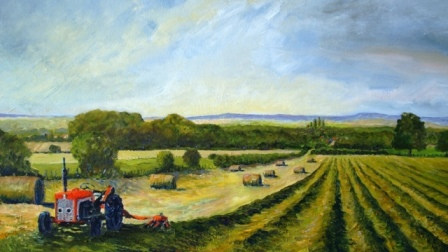 David's Tractor - Prospect Hill (oils) Sold