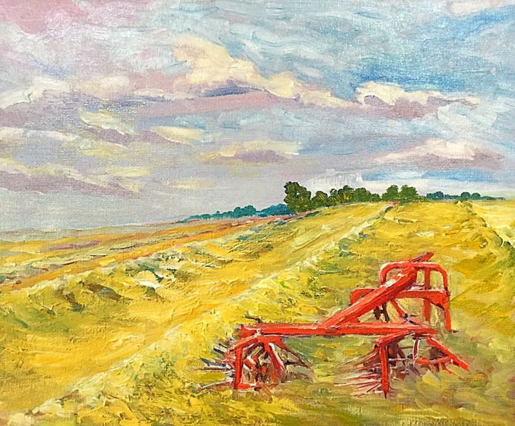 Threshing (oils) 30 x 21 cms approx £95