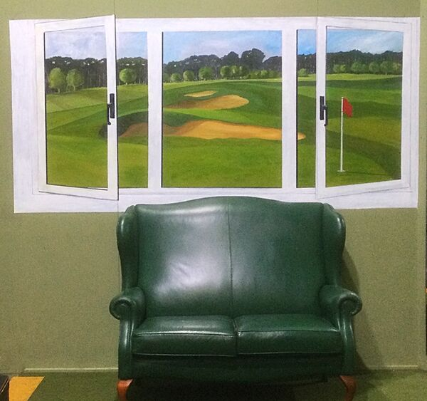Golf Course mural at Scarthingwell Golf Course (acrylic)