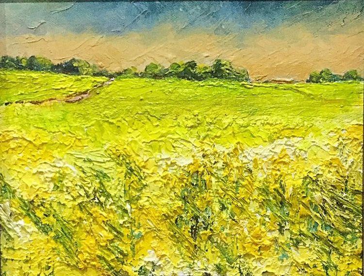 Rape Field at Carthorpe (oils) 26 x 20 cms £110