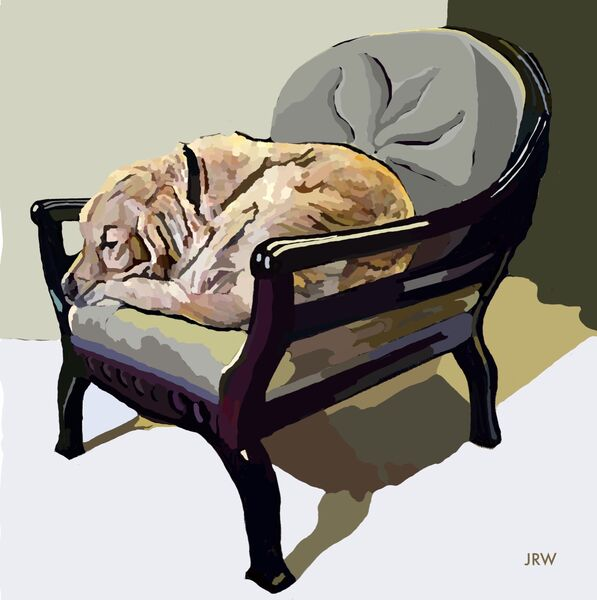 """Max in """"his"""" Chair (digital)"""