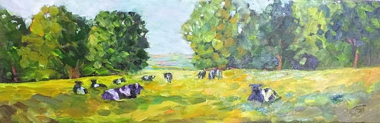 Pasture (oils on canvas) 60 x 20 cms £100