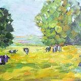 Pasture (oils on canvas) 60 x 20 cms £100