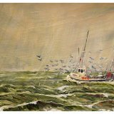 """Out of Whitby (oils) £200 (12x10"""") Available from Moorlands Gallery, Bedale or contact me."""