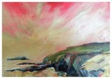 """Godrevy Point, Cornwall (oils) £350 (16x12"""") Available from Moorlands Gallery, Bedale or contact the artist."""