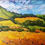 "Wensleydale Hay Meadow (oils) £70 (7x5"" approx)"