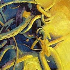 """Harbour Paraphenalia (oil on canvas) 16"""" x 22"""" £100"""