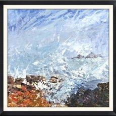 "Cape Cornwall (acrylic) £120 (15.5x15.5"")"
